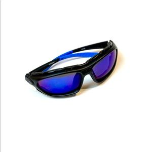 Polarized Padded Wind Resist blue lens Sunglasses